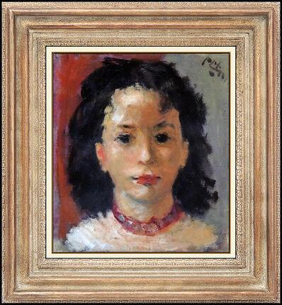 Robert Philipp, 'Robert Philipp Original Painting Oil On Canvas Signed Female Portrait Framed Art', 20th Century