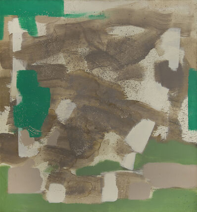 Carl Holty, 'Untitled (Tan, Green, White)', n/d