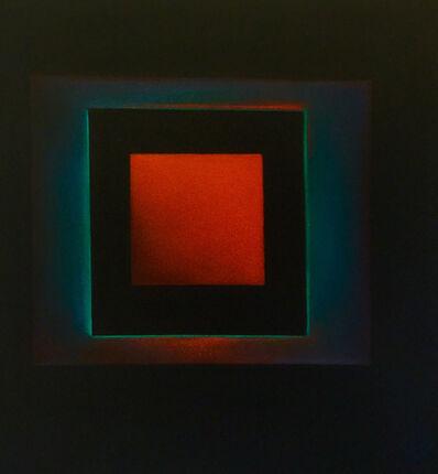 Margaret nes, 'Red Square Off Beat 19-15', 2019