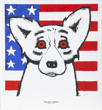 George Rodrigue, 'God Bless America Fundraising piece for 9/11 and Katrina', 2011