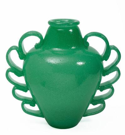 Napoleone Martinuzzi, 'Glass vase made for Venini, Murano in a Bollicine technique', ca. 1935