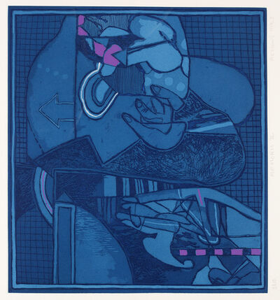 Dia Azzawi, 'Blue Abstract ', 1983