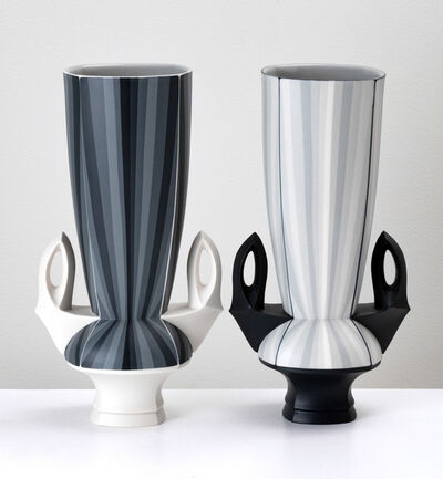 Peter Pincus, 'Contrasting Gradient Vases (pair)', 2018