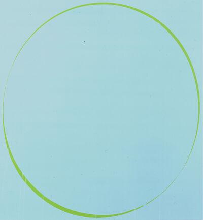 Ian Davenport, 'Ovals: turquoise, green, turquoise', 2002