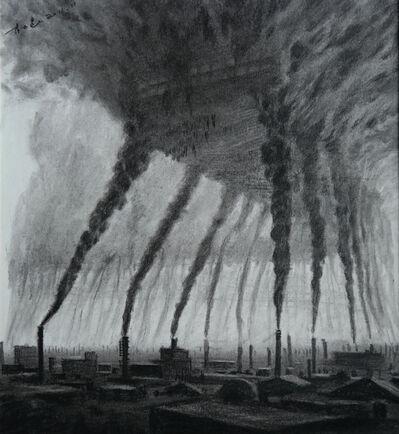 Du Kun, '烟囱 (草稿) / The Chimneys (sketch)', 2012