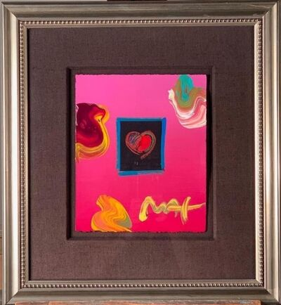 Peter Max, 'Heart (signed twice, with an additional original drawing on the verso of frame)', 2002