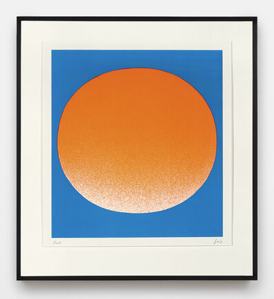 Rupprecht Geiger, 'orange auf blau (hell)', 1967