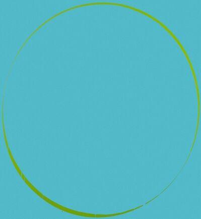 Ian Davenport, 'Oval Turquoise', 2006