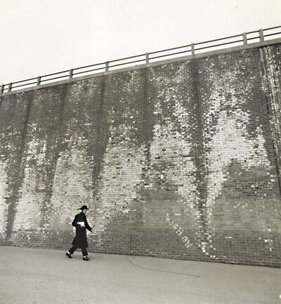 Arthur Tress, 'A Hassidic Rabbi Walks across a Highway Underpass, Brooklyn, NY', 1968/1968