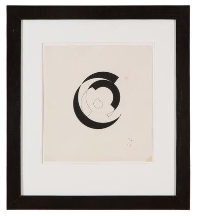 Sophie Taeuber-Arp, 'Composition circulaire en noir sur fond blanc', 1942