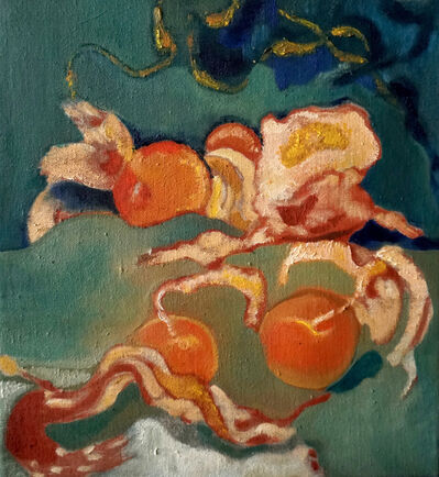 Darby Milbrath, 'Still life with Clementines, Gold and Ribbons', 2018