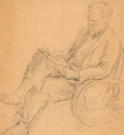 """Duncan Grant, 'Quentin Bell Reading (Study for """"The Family at Charleston"""")', 1953"""