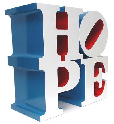 Robert Indiana, 'Hope, White/Blue/Red', 2009