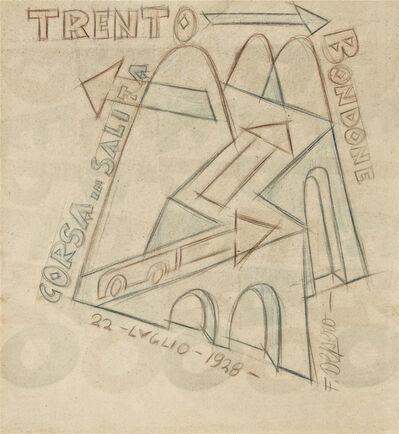 Fortunato Depero, 'Trento - Bondone Corsa in Salita', 1928