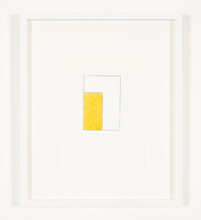 Ian Wallace, 'Monochrome Drawing (with Orange)', 2012