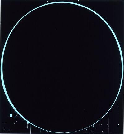 Ian Davenport, 'Ovals: black, light blue, black', 2002