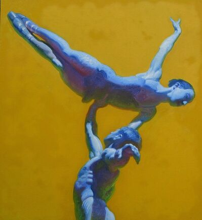 John Asaro, 'One Arm Yellow Lift', 2020
