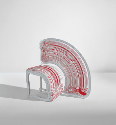 "Sebastian Brajkovic, '""Lathe V Red"" chair', 2008"
