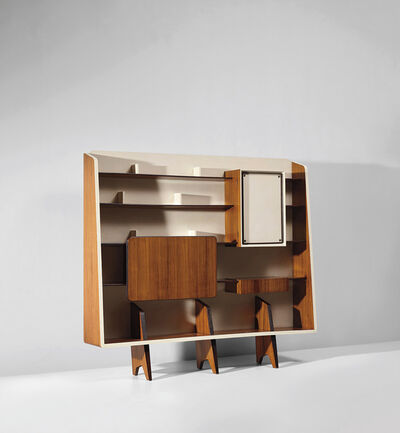 Gio Ponti, 'Rare bookcase with integrated drinks cabinet, designed for the 'Prima mostra dell'arredamento', Como', circa 1945