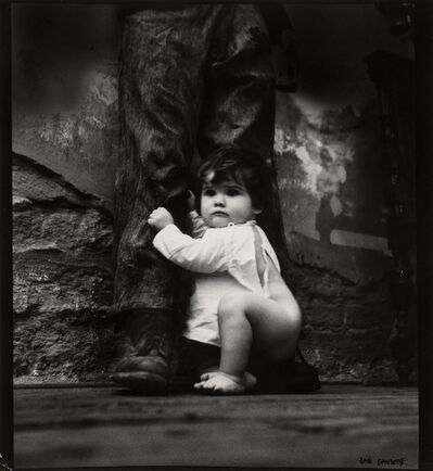Jan Saudek, 'Untitled (Child on Man's Boot)', 1978