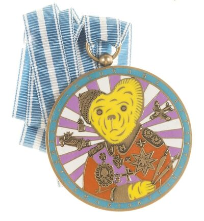 Grayson Perry, 'Teddy Bear Necklace Medal (Alan Measles)', 2018