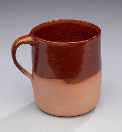Ken Price, 'Untitled (Cup, partially glazed, red-brown exterior and interior)', 1970-1979