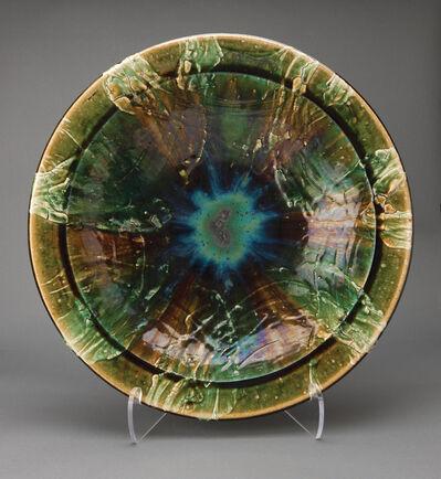 Ken Matsuzaki, 'Large plate, oribe glaze'