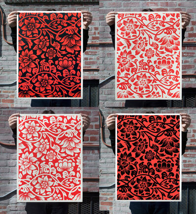 Shepard Fairey, 'Floral Takeover Set of 4 Prints', 2017