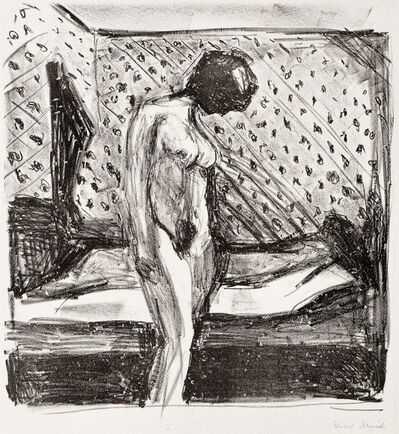 Edvard Munch, 'Gråtende ung kvinne ved sengen (Weeping Young Woman by the Bed)', 1930