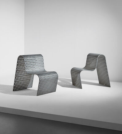 "Scott Burton, 'Pair of ""Perforated Metal Chairs""', 1989"