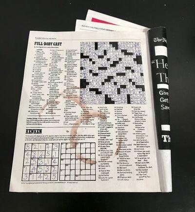 Randall Rosenthal, 'NY Times Crossword, 12/17/17', 2017