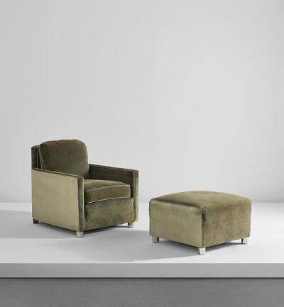 Gilbert Rohde, 'Rare armchair and ottoman', circa 1931