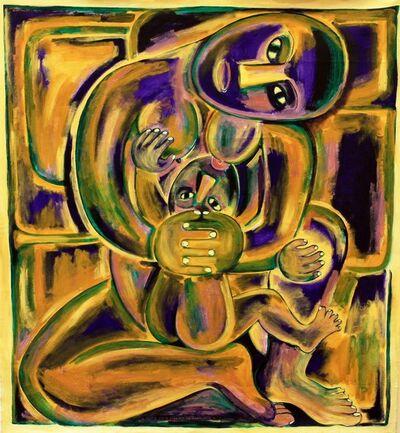 Robyn Kahukiwa, 'Nau I Whatu Te Kakahu He Tāniko Taku', 1985