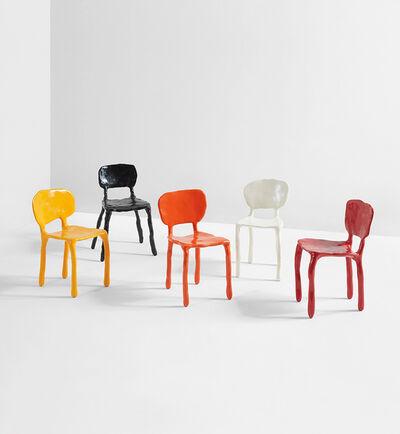 """Maarten Baas, 'Set of five """"Clay"""" children's chairs', 2007"""