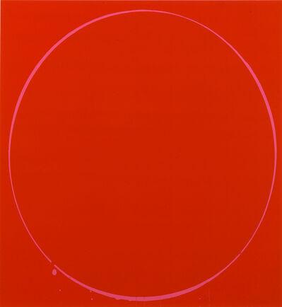 Ian Davenport, 'Ovals: dark red, magenta, dark red', 2002
