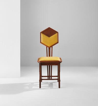 "Frank Lloyd Wright, '""Peacock"" side chair', circa 1916"