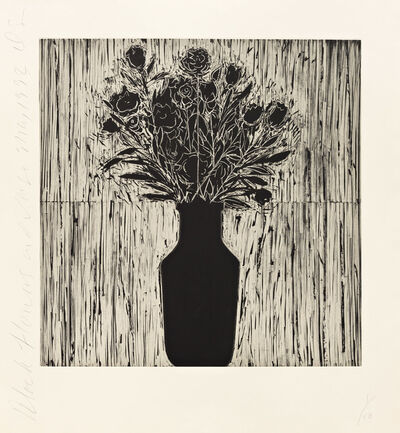 Donald Sultan, 'Black Flowers and Vase', 1993