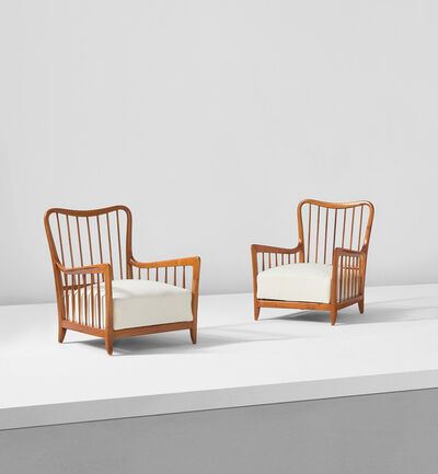 Paolo Buffa, 'Pair of armchairs', circa 1950