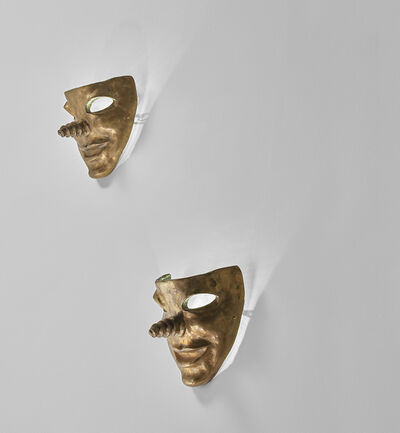 Elizabeth Garouste and Mattia Bonetti, 'Pair of mask-form wall lights', 1987