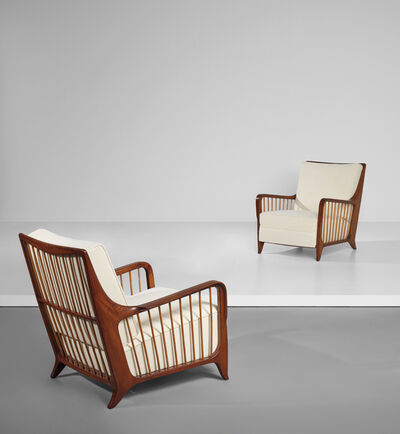 Paolo Buffa, 'Pair of armchairs', 1950s