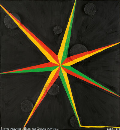 Chris Martin, 'Seven Pointed Star for Isaac Hayes', 2008