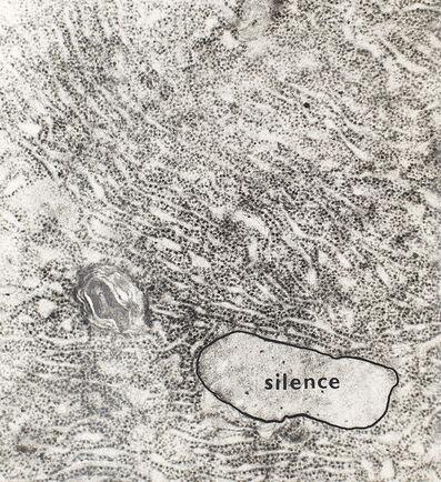 Jiří Valoch, 'silence (First histological poem). Vizualni bàsen. ', 1969