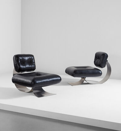 Oscar Niemeyer, 'Pair of lounge chairs', circa 1978