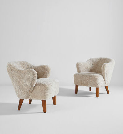 Flemming Lassen, 'Pair of armchairs', circa 1940
