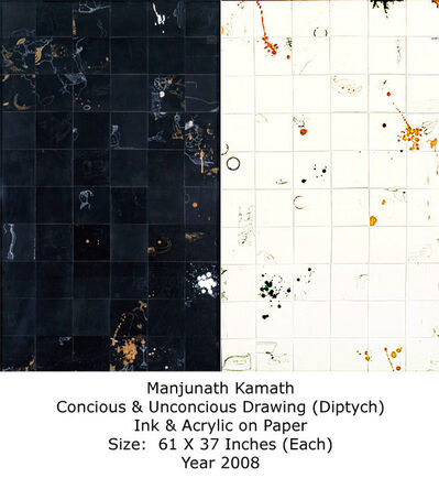 Manjunath Kamath, Conscious and Unconscious Drawing (Ditych)