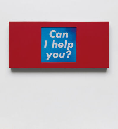 Barbara Kruger, 'Untitled (Can I help you?/Can I interest you in something in red?/Cash or charge?)', 1987
