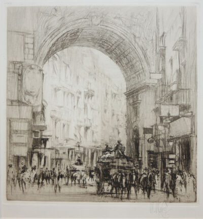 William Walcot, 'Arc San Carlo, Naples', 1920