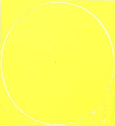 Ian Davenport, 'Ovals: yellow, lemon yellow, yellow', 2002