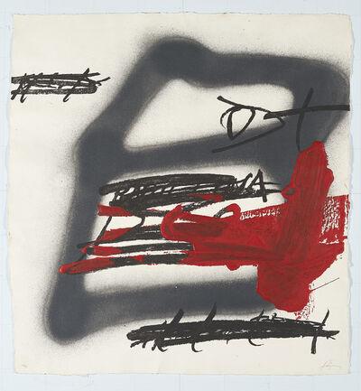 Antoni Tàpies, 'Forma Ombrejad', 1987