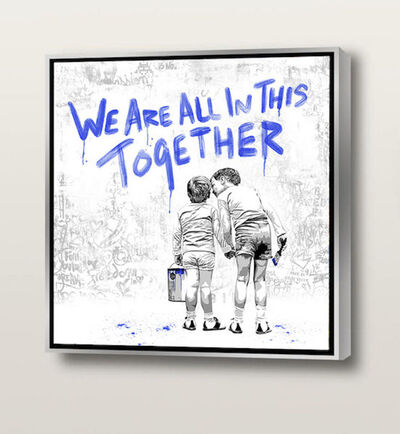 Mr. Brainwash, 'We Are All In This Together (blue)', 2020